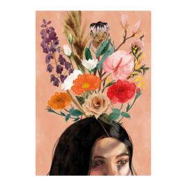 bloemen gedachte (100x70cm)