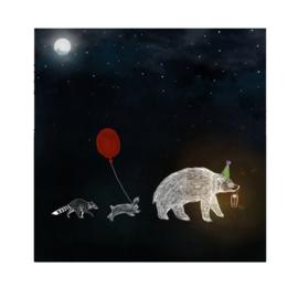 nachtavontuur poster (29x29cm)
