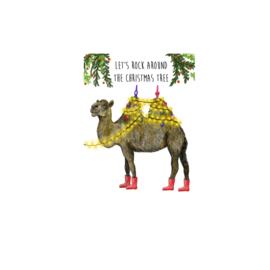 kerstkaart kameel