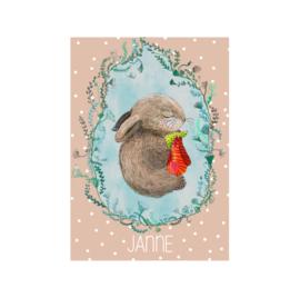 geboortekaart slapend konijntje