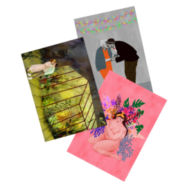 postkaartenset liefde