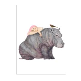 meisje met nijlpaard (29x40cm)