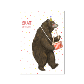 geboortekaart beer
