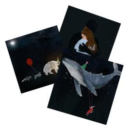 postkaartenset over de nacht