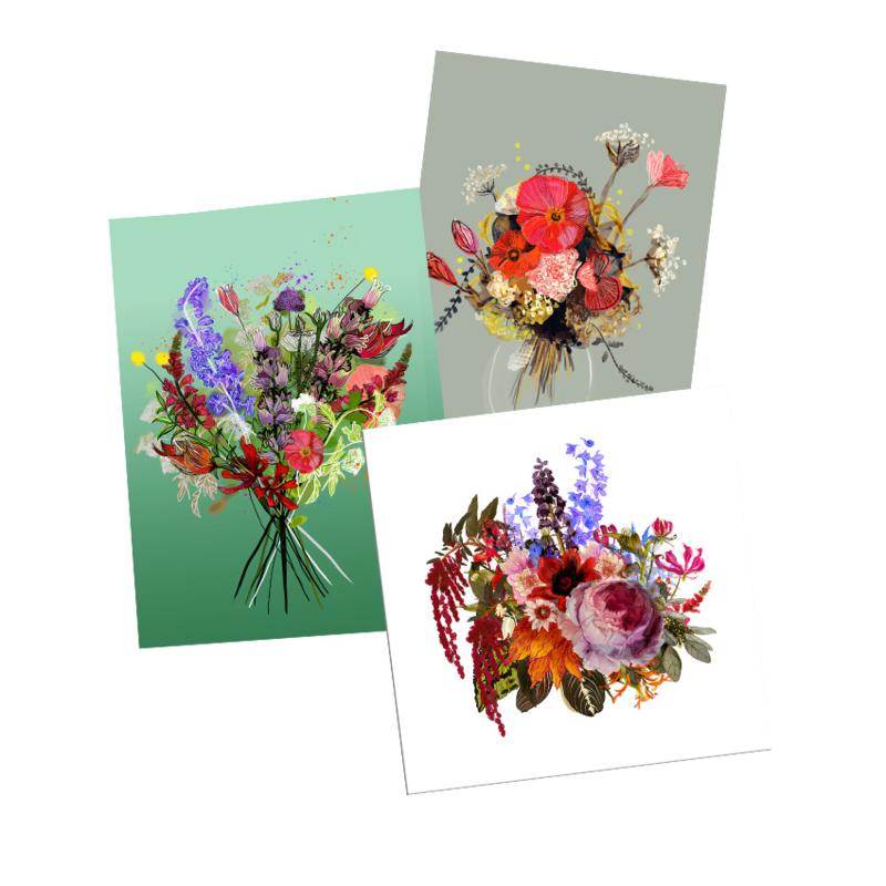 postkaartenset bloemenpracht