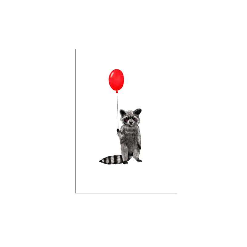 postkaart wasbeertje
