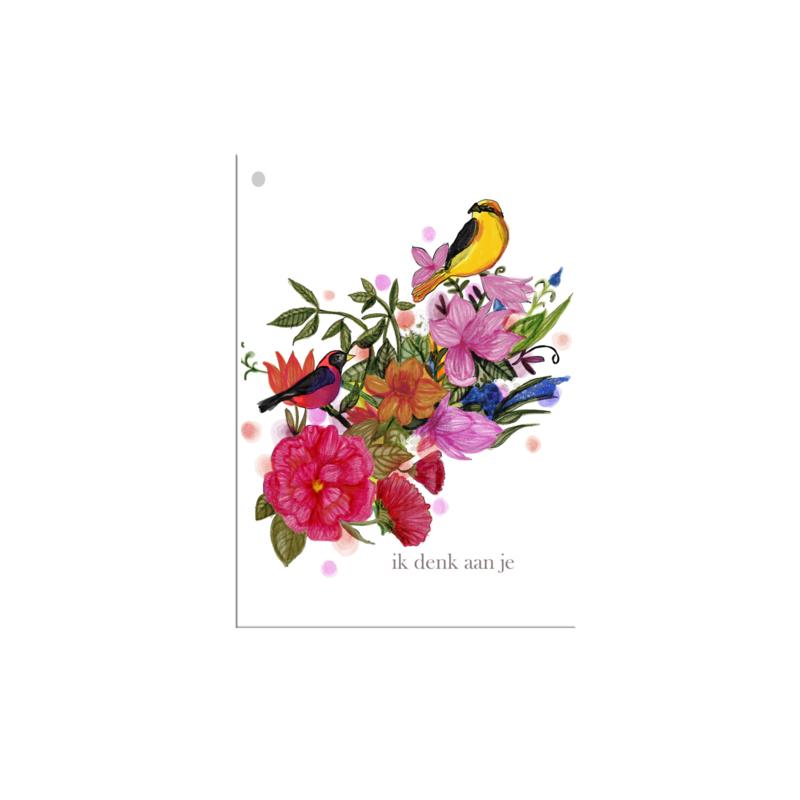 mini kaartje ik denk aan je vogels (per 10)