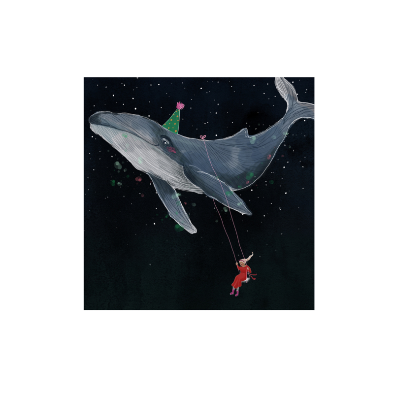 postkaart als de lucht als de zee was