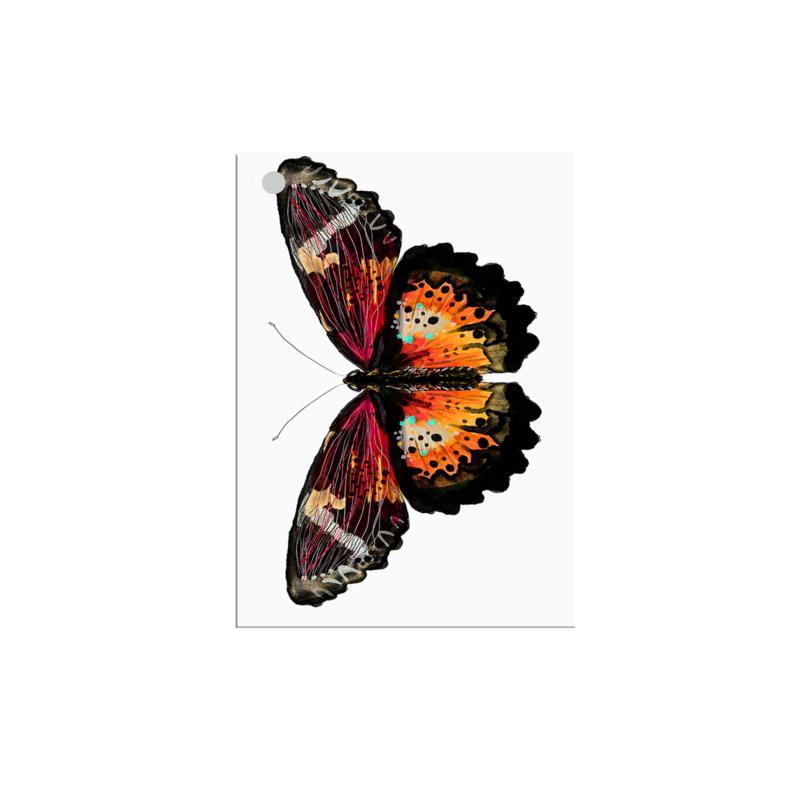 mini kaartje vlinder (per 10)