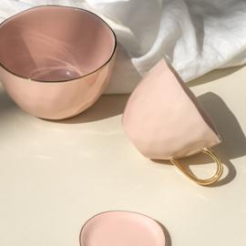Goodmorning mug old pink