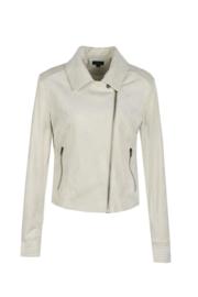 Jacket off white suedine
