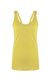 Kruisband top oker geel