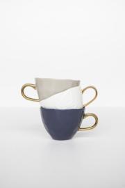 Goodmorning mug blue green