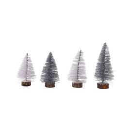 Kerstboompjes , set van 4