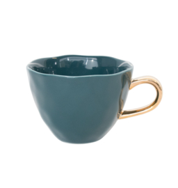 Goodmorning mug blue green