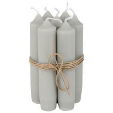 Short dinner candle grijs