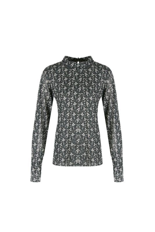 Shirt Ilona groen/zand