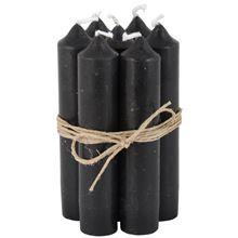 Short dinner candle zwart