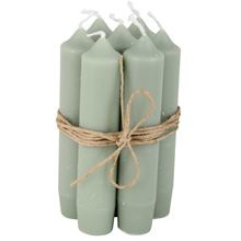 Short dinner candle groen