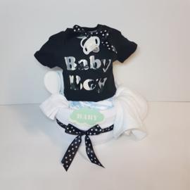 Luiertaart baby T-shirt Baby boy army