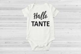 Hallo tante zwangerschapsaankondiging romper(Sier)