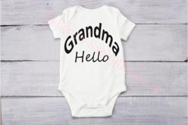 Baby romper Grandma hello(strak)