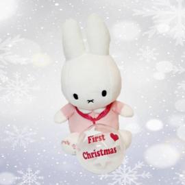 Mijn first Nijntje met kerstbal roze