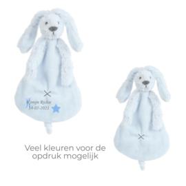 Rabbit Richie blauw  knuffeldoek