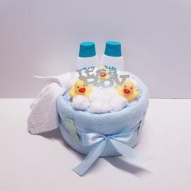 Kraamcadeau  luierbadje met eendjes Blauw