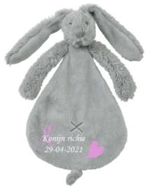 Rabbit Richie grijs  knuffeldoek
