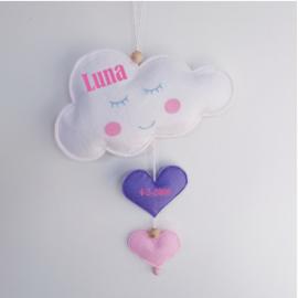 Baby kamer hanger wolk