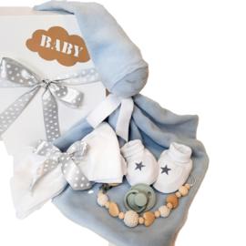 Cadeau set knuffeldoekje Blauw