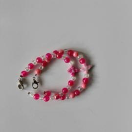 Kinder armband set Vogeltje roze