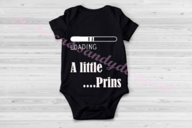 Baby rompertje Loading a little prins zwart