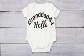 Baby romper Granddaddy hello(Sier)