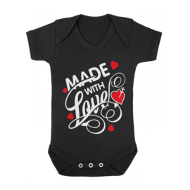 Baby romper made with love ( wit)