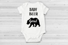 Baby beer romper wit