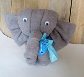 Handdoek olifantje Blauw