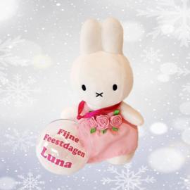 Nijntje bloemen-meisje met kerstbal