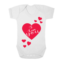 Baby romper I love you hart