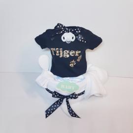 Luiertaart baby T-shirt Tijger