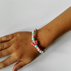 Kinder armband vlinder 3 kleuren