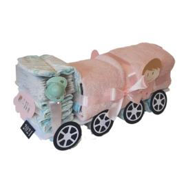 Luiertaart Vrachtwagen Roze