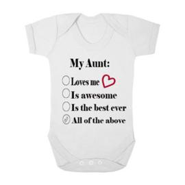 Baby romper My aunt is....