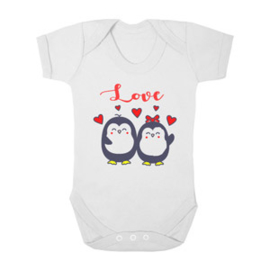 Baby romper love pinguins
