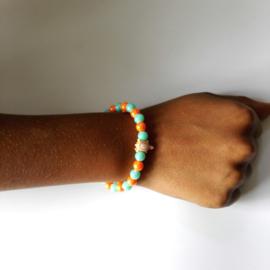 Kinder armband schildpad Oranje 1