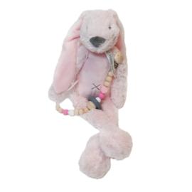 Rabbit Richie Roze met speenkoord