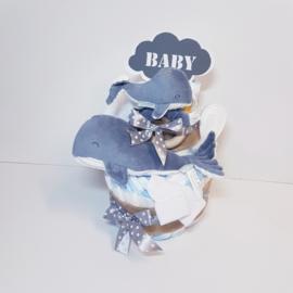 Luiertaart Walvis little dutch blauw