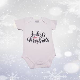Kerst romper baby's first christmas