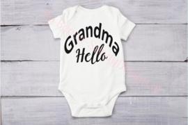 Baby romper Grandma hello (Sier)